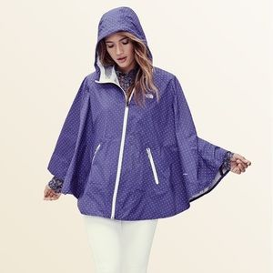 The North Face Polka Dot Waterproof Hooded Poncho